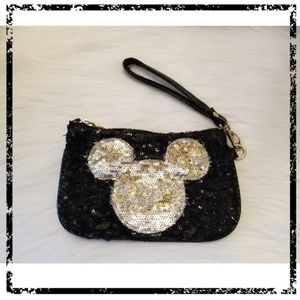 Disney Mickey Mouse Sequins Wristlet